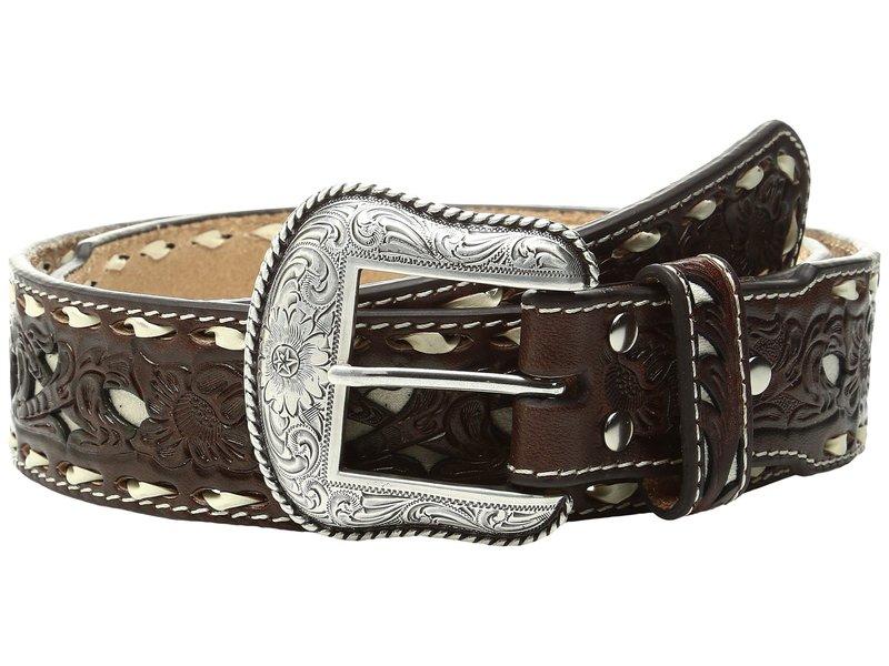 エムエフウエスターン メンズ ベルト アクセサリー Ivory Lace Stitched Belt Tan