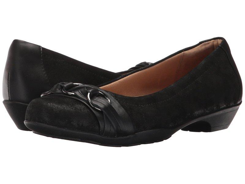 コンフォーティバ レディース サンダル シューズ Posie - Soft Spots Black Distressed Foil Suede