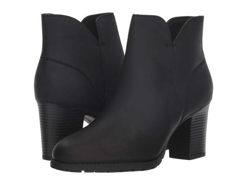 クラークス レディース ブーツ・レインブーツ シューズ Verona Trish Black Leather
