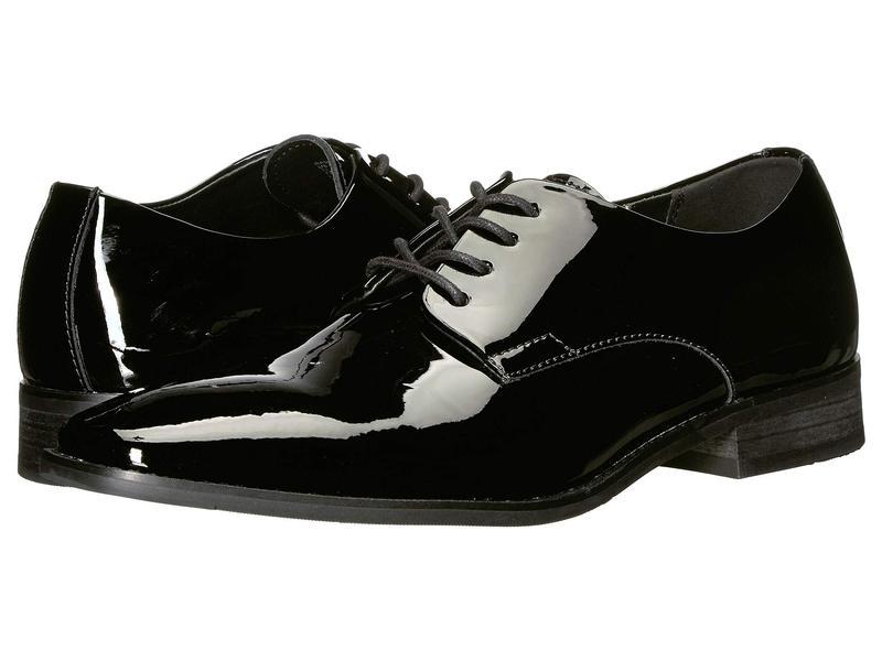 ☆正規品新品未使用品 送料無料 サイズ交換無料 カルバンクライン 捧呈 メンズ シューズ Ramses Patent Black オックスフォード Leather