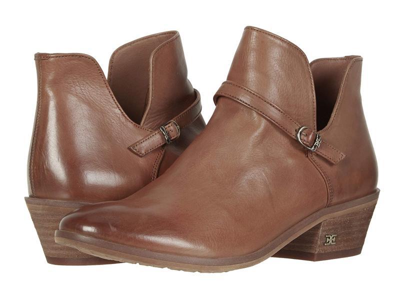 サムエデルマン レディース ブーツ・レインブーツ シューズ Palmer Cognac Veg Calf Leather