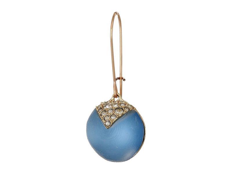 アレクシス ビッター レディース ピアス・イヤリング アクセサリー Crystal Encrusted Origami Inlay Dangling Sphere Kidney Wire Earrings Horizon Blue