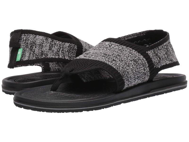 サヌーク レディース サンダル シューズ Yoga Sling 3 Knit Black/Grey