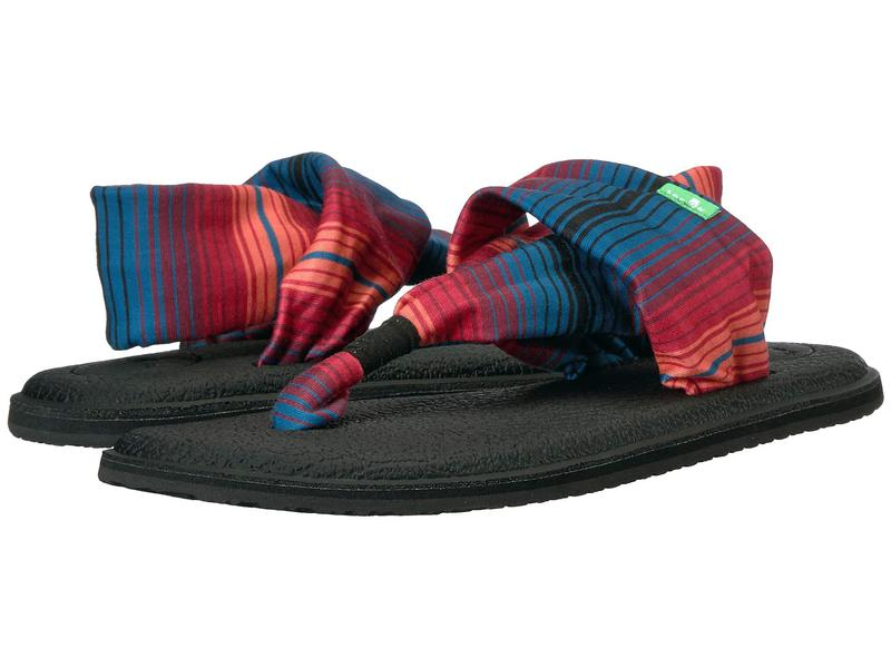 サヌーク レディース サンダル シューズ Yoga Sling 2 Prints Black Multi Fade