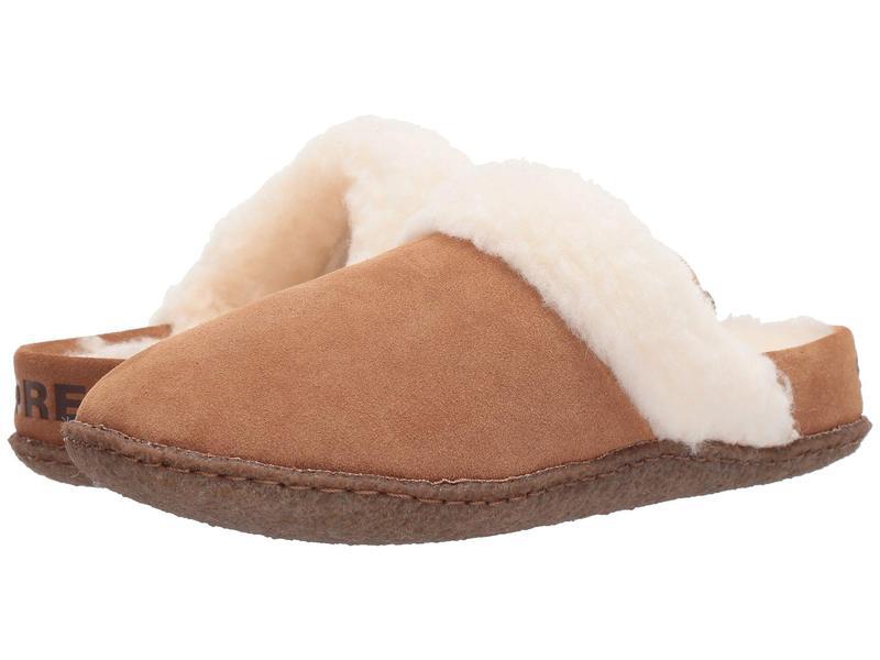 ソレル レディース サンダル シューズ Nakiska¢ Slide II Camel Brown/Natural 2