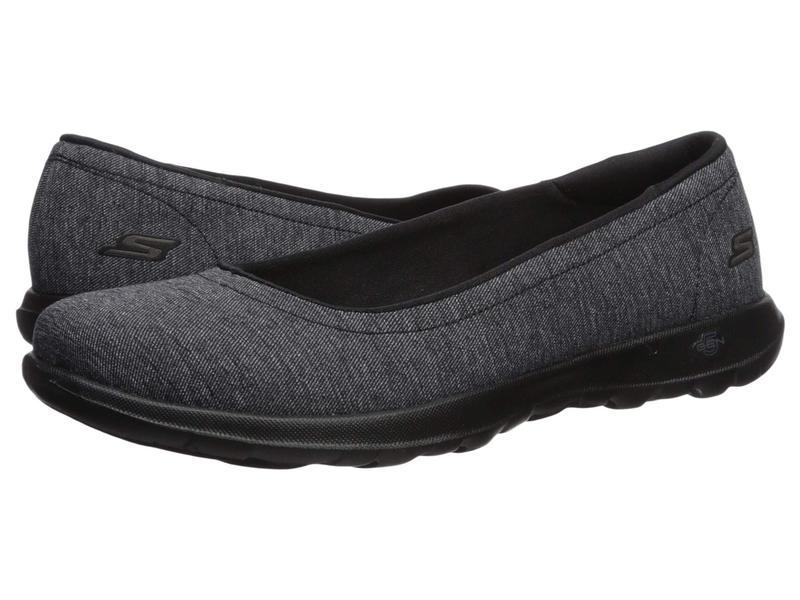 スケッチャーズ レディース サンダル シューズ Go Walk Lite - 15390 Black/Gray