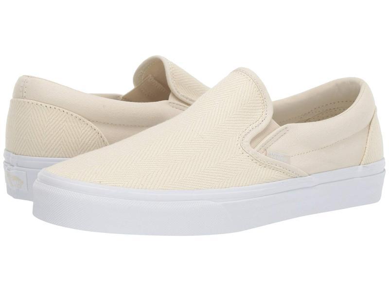 バンズ メンズ スニーカー シューズ Classic Slip-On¢ (Herringbone) White Asparagus/True White