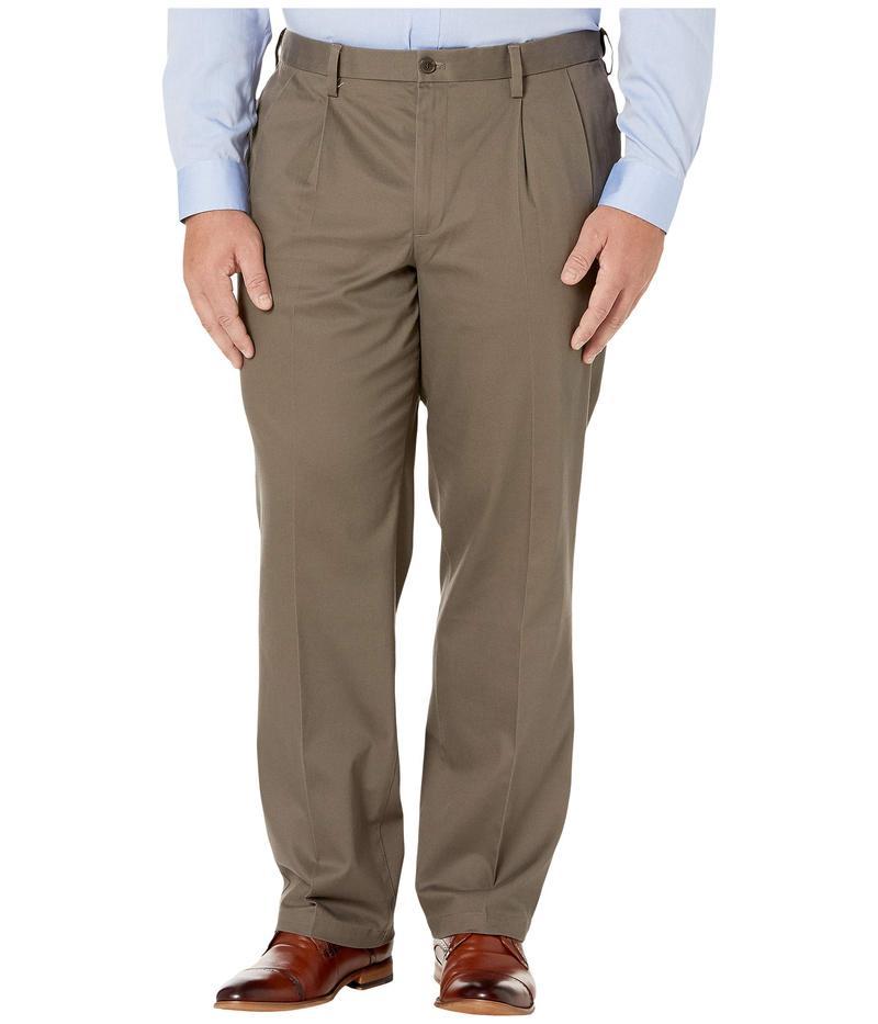 ドッカーズ メンズ カジュアルパンツ ボトムス Big & Tall Classic Fit Signature Khaki Lux Cotton Stretch Pants - Pleated Dark Pebble