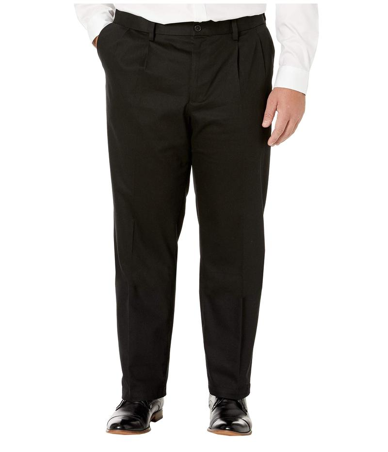 ドッカーズ メンズ カジュアルパンツ ボトムス Big & Tall Classic Fit Signature Khaki Lux Cotton Stretch Pants - Pleated Black