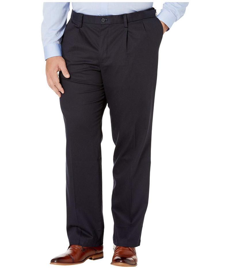 ドッカーズ メンズ カジュアルパンツ ボトムス Big & Tall Classic Fit Signature Khaki Lux Cotton Stretch Pants - Pleated Dockers Navy