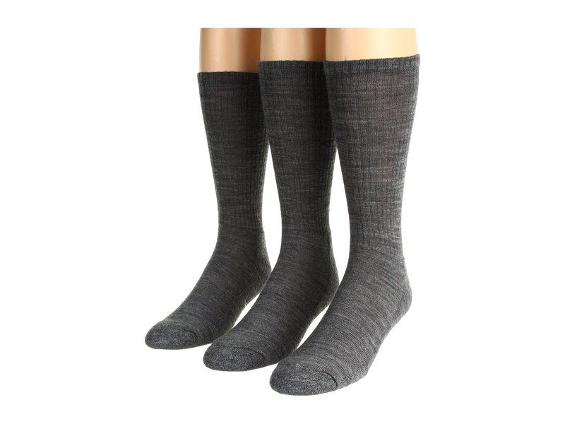 スマートウール メンズ 靴下 アンダーウェア Heathered Rib 3-Pair Pack Medium Gray Heather
