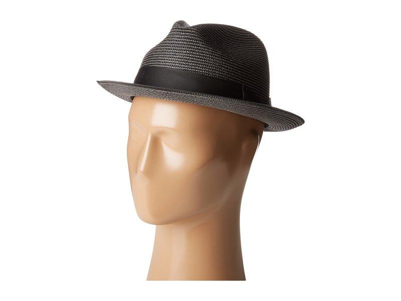 ステイシーアダムス メンズ 帽子 アクセサリー Pinch Front Braid Fedora Black