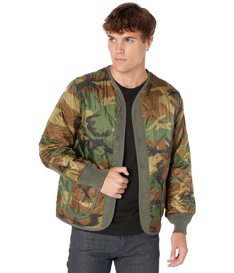 アルファインダストリーズ メンズ コート アウター Defender Jacket Liner Woodland Camo