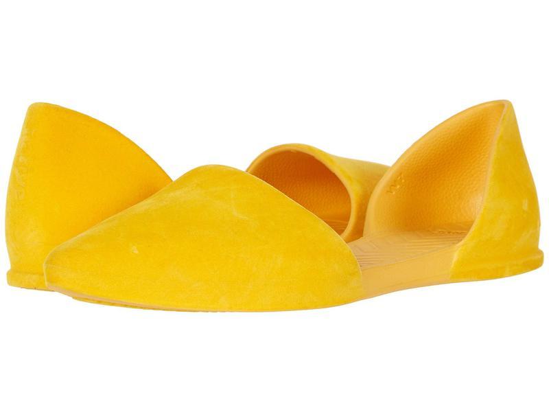 ネイティブ シューズ レディース サンダル シューズ Audrey Velvet Alpine Yellow Velvet