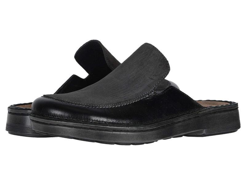 ナオト レディース サンダル シューズ Procida Black Madras Leather/Oily Midnight Suede