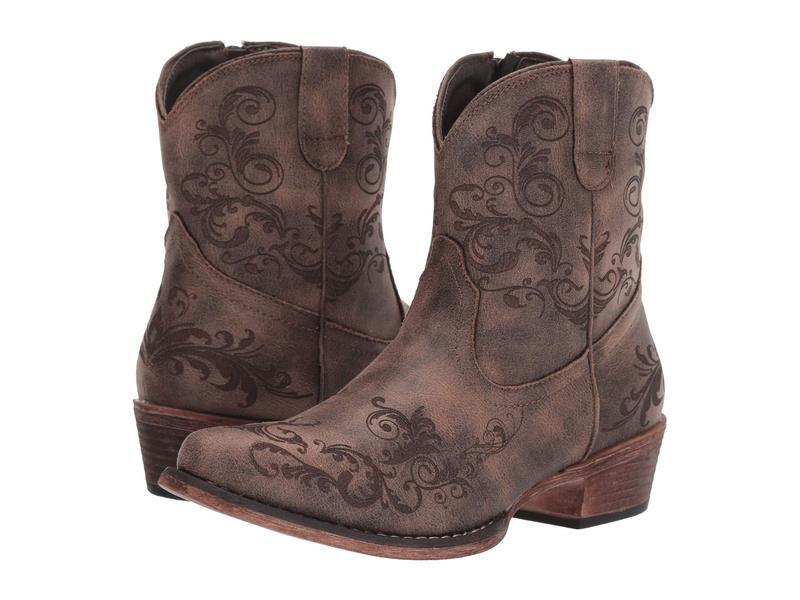 ローパー レディース ブーツ・レインブーツ シューズ Short Stuff Vintage Brown Faux Leather