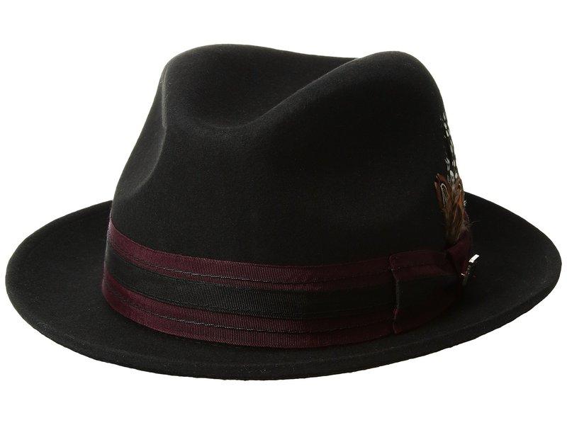 ステイシーアダムス メンズ 帽子 アクセサリー Pinch Front Wool Fedora Black 2