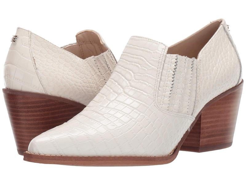 サムエデルマン レディース ヒール シューズ Walton Modern Ivory Kenya Croco Embossed Leather