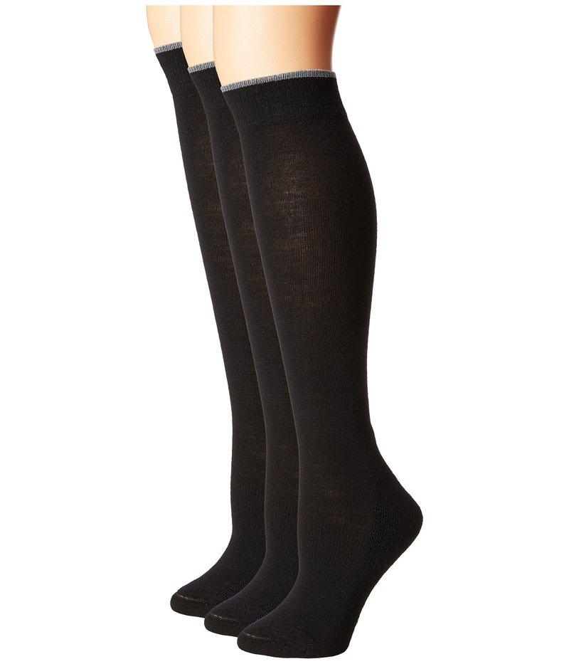 スマートウール レディース 靴下 アンダーウェア Basic Knee High 3-Pack Black