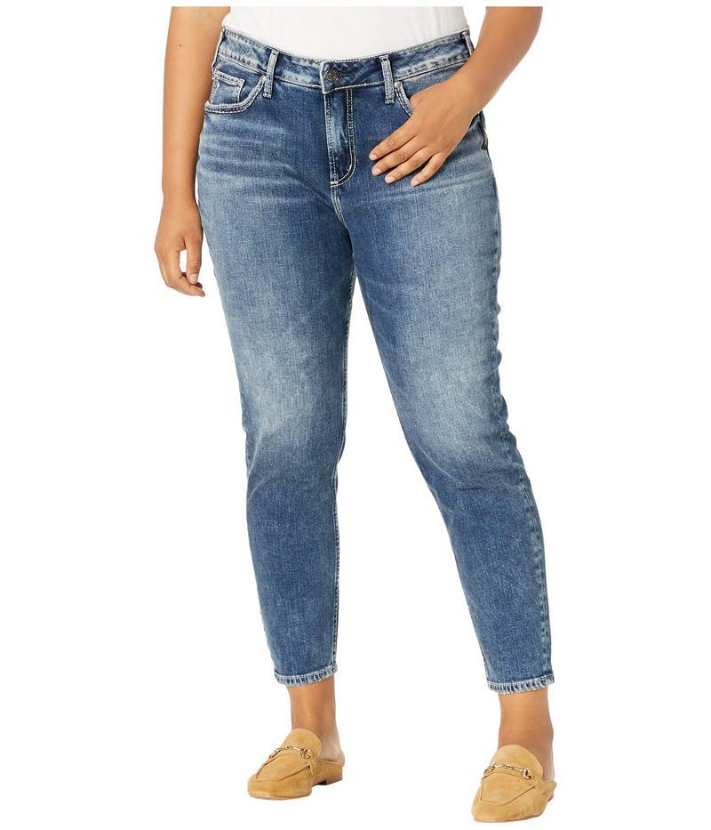 シルバー ジーンズ レディース デニムパンツ ボトムス Plus Size Avery High-Rise Curvy Fit Skinny Jeans in Indigo W94116SCP306 Indigo