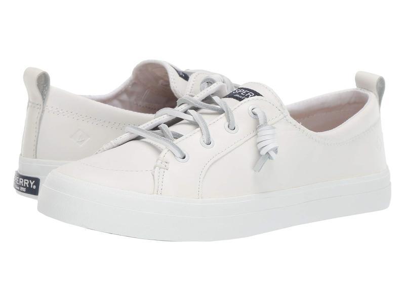 スペリー レディース スニーカー シューズ Crest Vibe Leather White