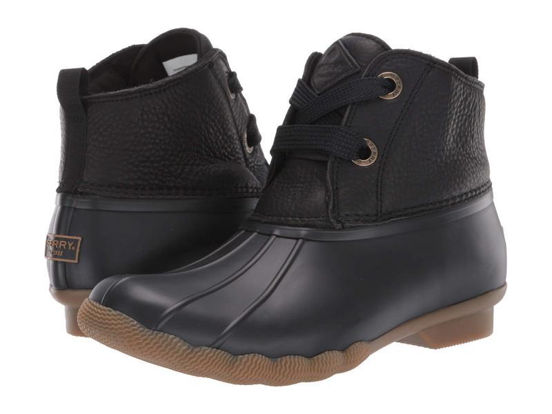 スペリー レディース ブーツ・レインブーツ シューズ Saltwater 2-Eye Leather Black