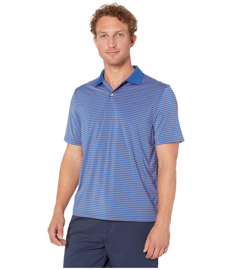 サウザーンタイド メンズ シャツ トップス Barrier brrr Performance Striped Polo Shirt Blue Cove