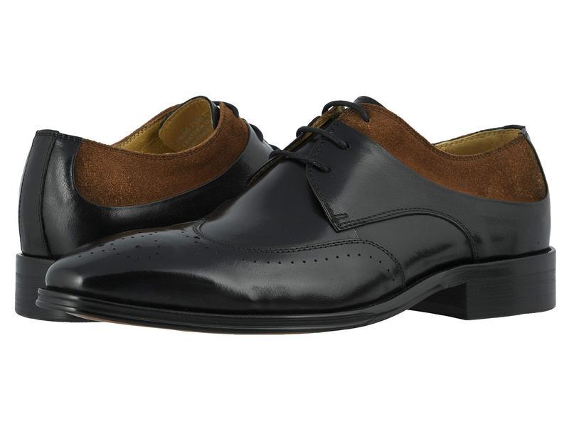 ステイシーアダムス メンズ オックスフォード シューズ Hewlett Wing Tip Oxford Black/Tan