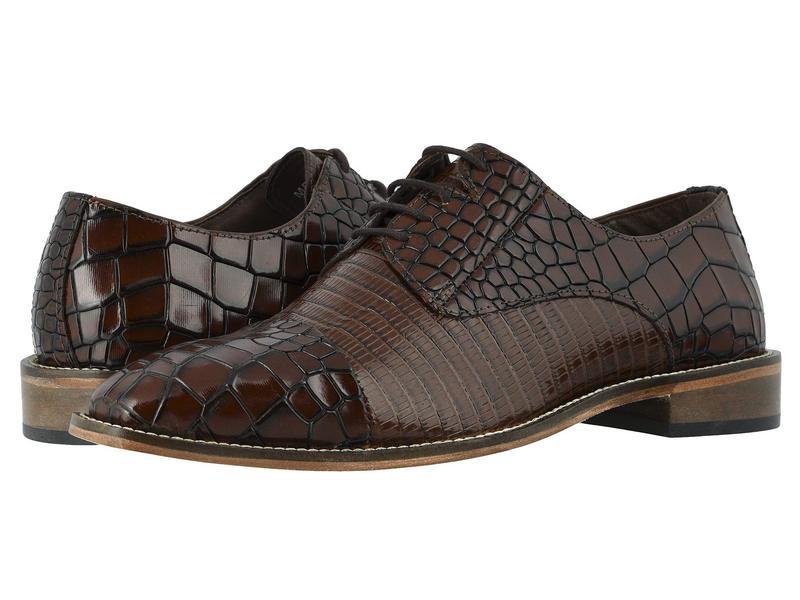 ステイシーアダムス メンズ オックスフォード シューズ Talarico Leather Sole Cap Toe Oxford Cognac