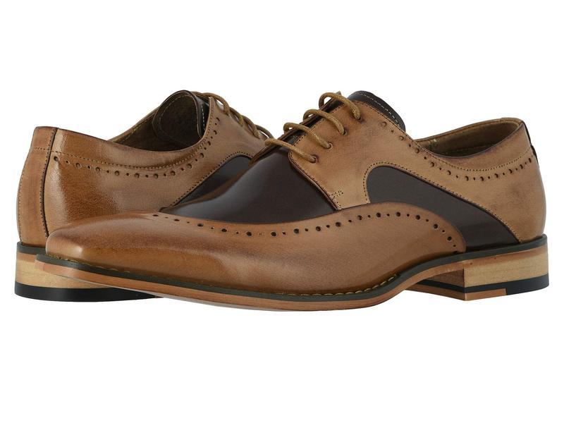 ステイシーアダムス メンズ オックスフォード シューズ Tammany Folded Moc Toe Oxford Tan/Brown