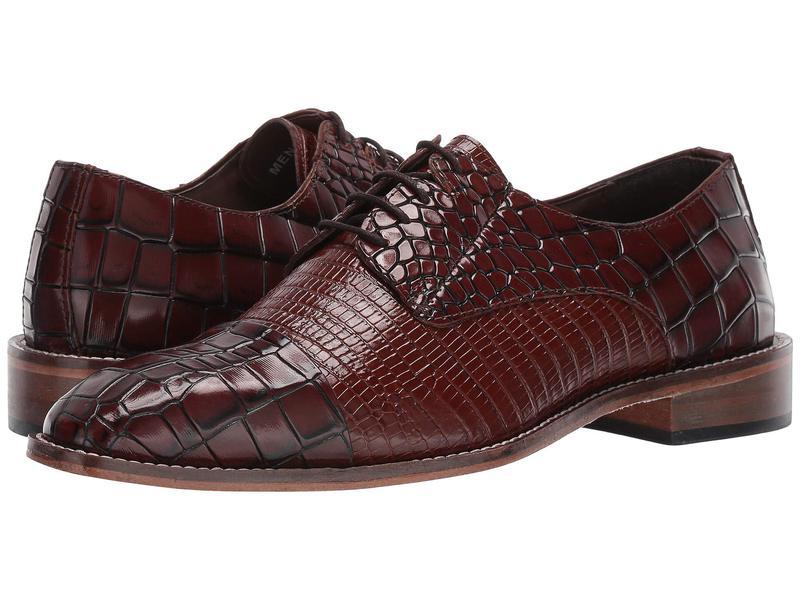 ステイシーアダムス メンズ オックスフォード シューズ Trimarco Leather Sole Moe Toe Oxford Cognac