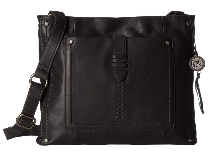ザサック レディース ハンドバッグ バッグ Heritage Leather Crossbody Black