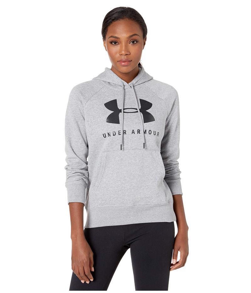 アンダーアーマー レディース パーカー・スウェット アウター Rival Fleece Sportstyle Graphic Hoodie Steel Medium Heather/Black