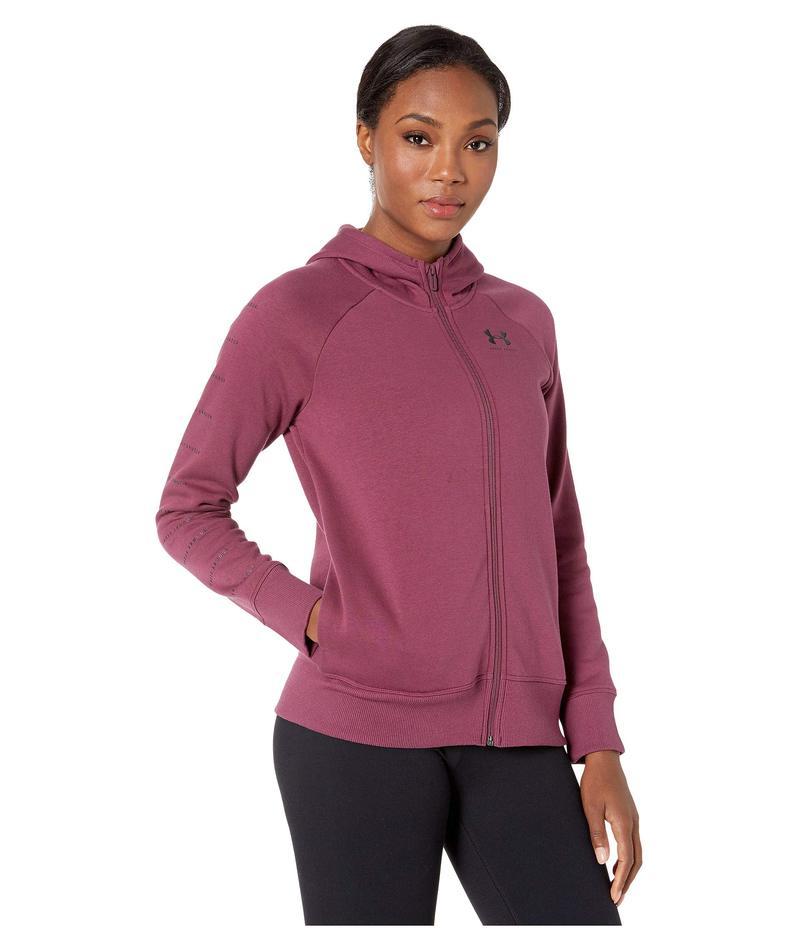 アンダーアーマー レディース コート アウター Rival Fleece Sportstyle LC Sleeve Graphic Full Zip Level Purple/Black