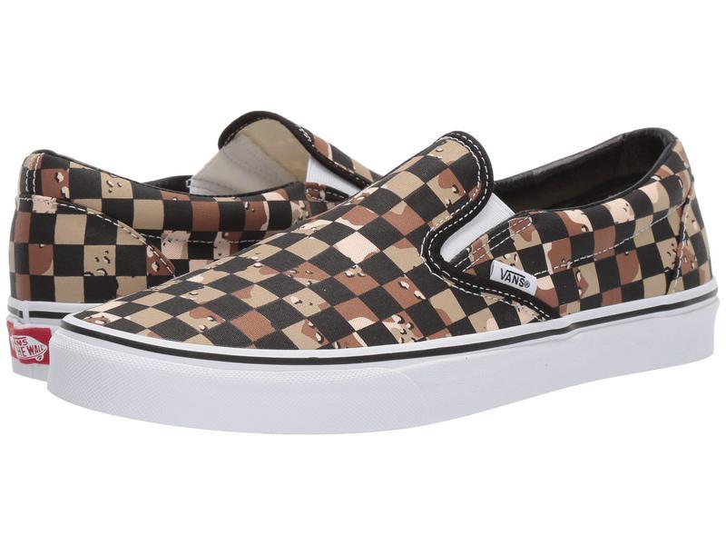バンズ メンズ スニーカー シューズ Classic Slip-On¢ (Checkerboard) Camo Desert/True White