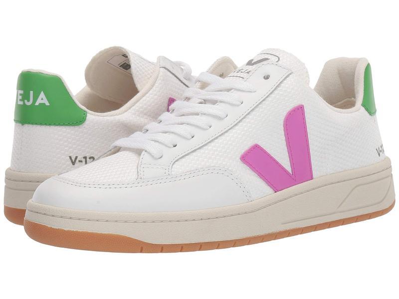 ヴェジャ レディース スニーカー シューズ V-12 White Mesh/Ultra Violet/Granny Leather