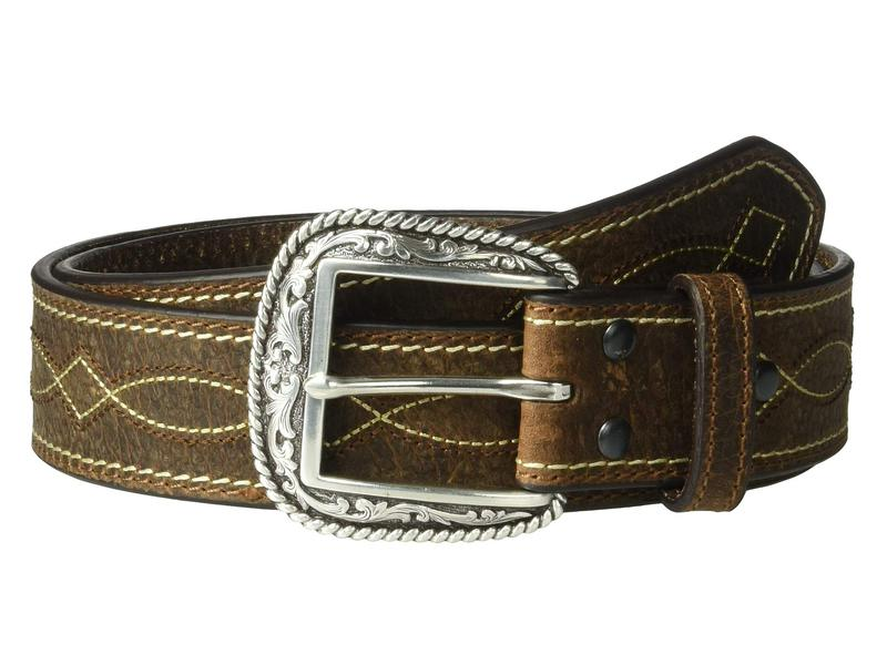 【現金特価】 アリアト メンズ ベルト アクセサリー Center Boot Stitching Belt Brown, 想いを繋ぐ百貨店【TSUNAGU】MEN 7ae5243d
