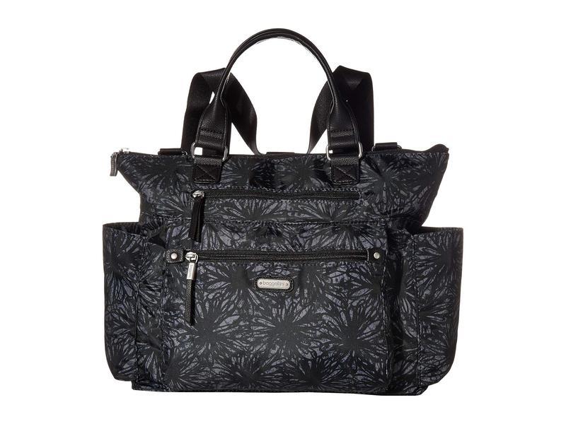 バッガリーニ レディース バックパック・リュックサック バッグ 3-in-1 Convertible Backpack with RFID Phone Wristlet Onyx Floral
