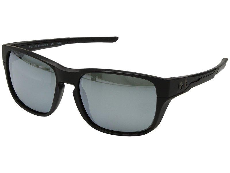 アンダーアーマー メンズ サングラス・アイウェア アクセサリー UA Pulse Satin Black/Black/Silver Polarized Mirror