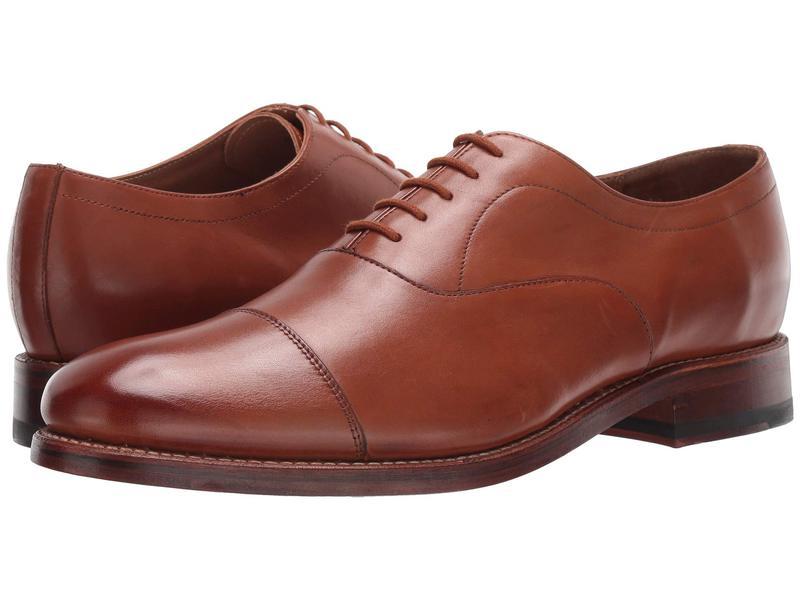 ボストニアン メンズ オックスフォード シューズ Rhodes Cap Tan Leather
