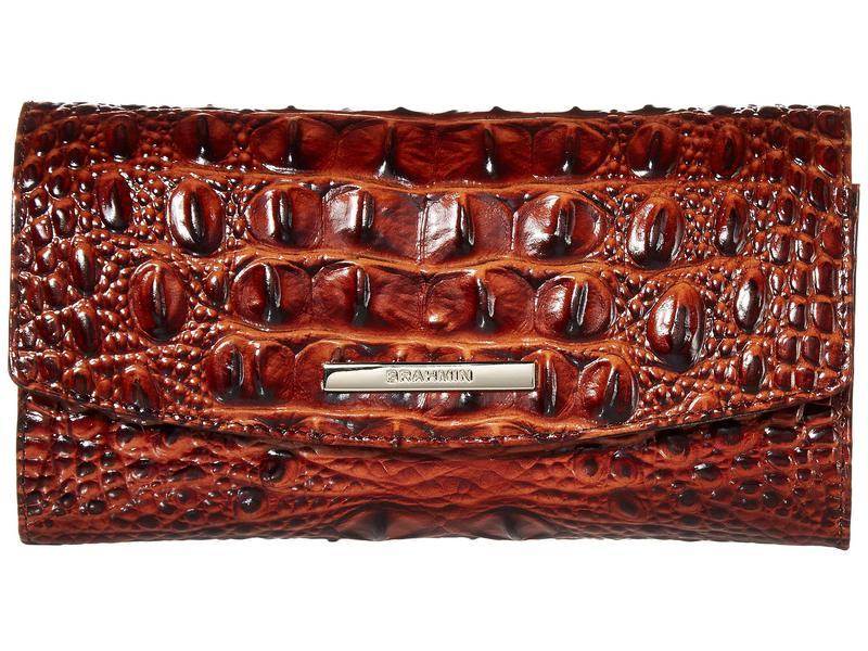 ブランミン レディース 財布 アクセサリー Melbourne Modern Checkbook Wallet Pecan