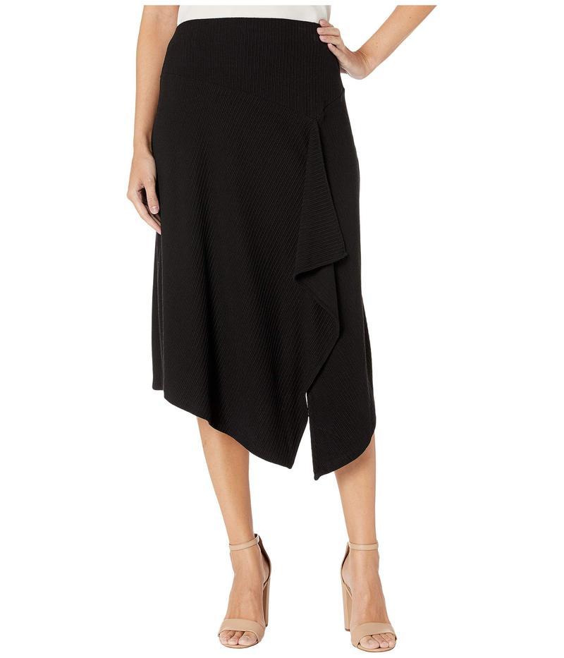 カルバンクライン レディース スカート ボトムス Raised Stripe Knit Skirt Black