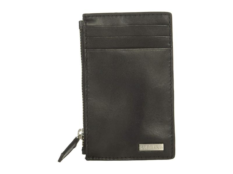 カルバンクライン メンズ 財布 アクセサリー Zip Card Case Black