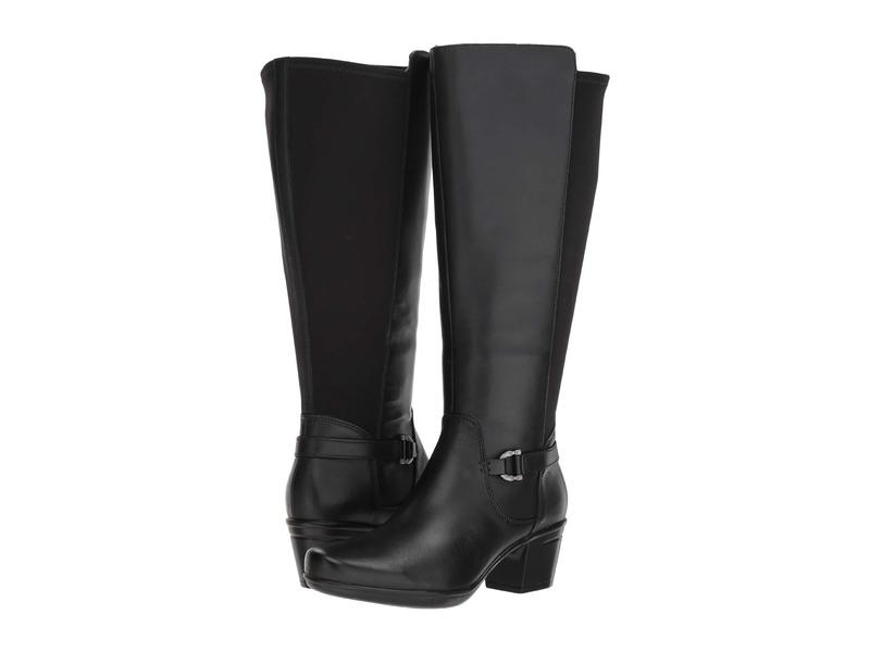 クラークス レディース ブーツ・レインブーツ シューズ Emslie March Wide Calf Black Leather