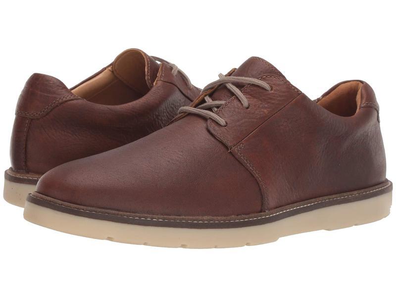 クラークス メンズ オックスフォード シューズ Grandin Plain Tan Leather