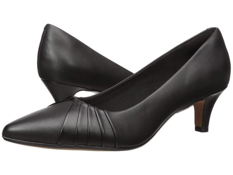 クラークス レディース ヒール シューズ Linvale Crown Black Leather