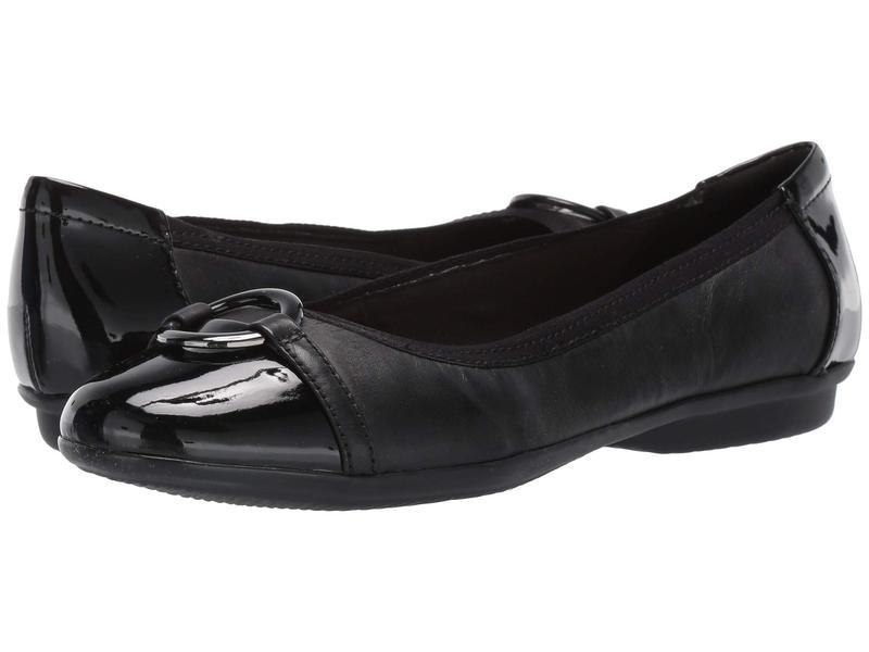 クラークス レディース サンダル シューズ Gracelin Wind Black Leather/Synthetic