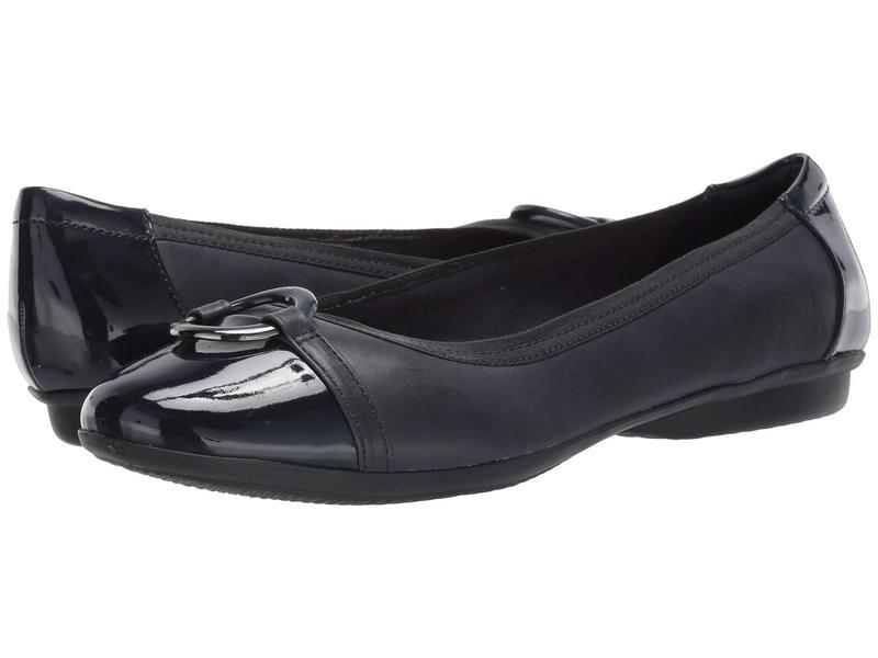 クラークス レディース サンダル シューズ Gracelin Wind Navy Leather/Synthetic