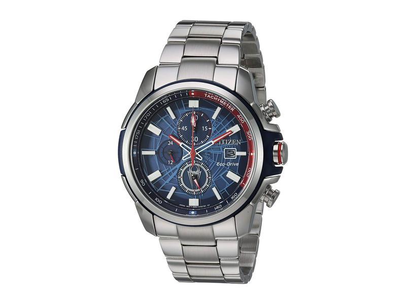 シチズンウォッチ メンズ 腕時計 アクセサリー Spider-Man CA0429-53W Silver Tone