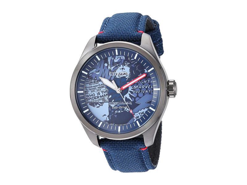 シチズンウォッチ メンズ 腕時計 アクセサリー Marvel Heroes AW2037-04W Blue